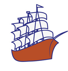 Pirate ship icon vector