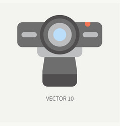 Plain flat color computer part icon web vector