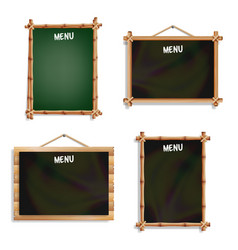 Restaurant menu boards set isolated on white vector