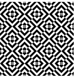 seamless checked op art pattern vector image