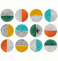 Seamless pattern doodle creative minimalist vector