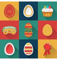 set easter objects vector image