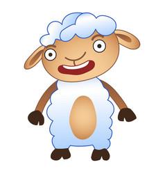 shocked sheep icon cartoon style vector image