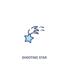 shooting star concept 2 colored icon simple line vector image