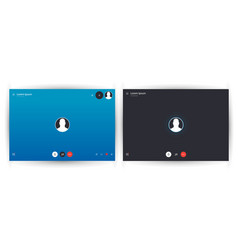 skype call screen template mobile layout vector image