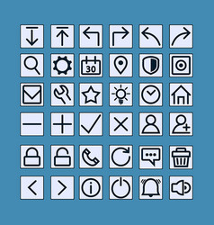 slim thin icon button vector image