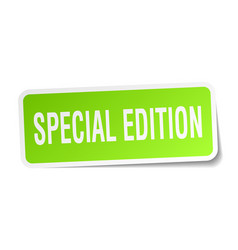 Special edition square sticker on white vector