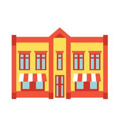 store shop front window building color icon vector image vector image