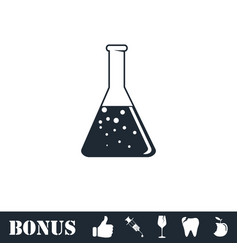 Test tube icon flat vector