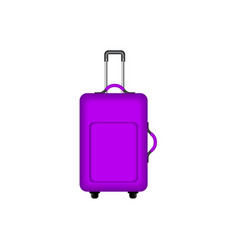 travel suitcase in purple design vector image vector image
