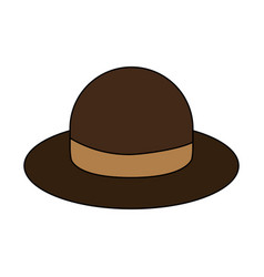 vintage hat icon image vector image