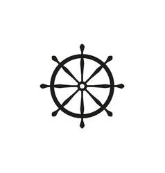 wheel ship icon vector image