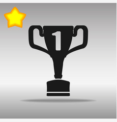 winner black icon button logo symbol concept vector image