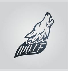 wolf tattoo icon logo vector image