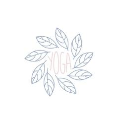 Yoga Studio Hand Drawn Logo vector