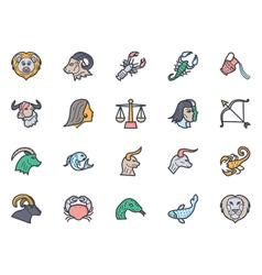 Zodiac icons 1 vector