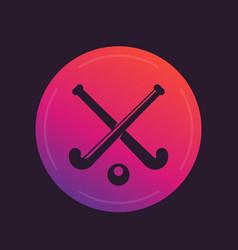 Field hockey icon vector