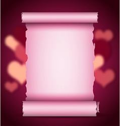 scroll Valentine background vector image