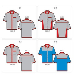 shirts template vector image vector image