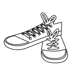 young shoes style icon vector image
