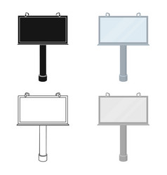 Billboard icon in cartoon style isolated on white vector