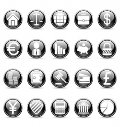 business and finance buttons vector image