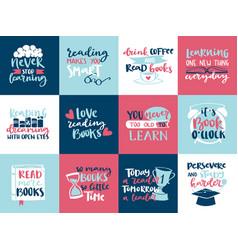 imagination concept love reading motivation hand vector image