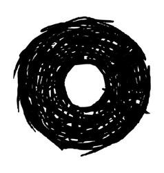 O - hand drawn character sketch font vector image