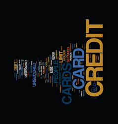 the bad credit card that may do good secured vector image