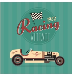 vintage sport racing cars vector image vector image