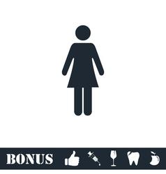 Woman icon flat vector image vector image