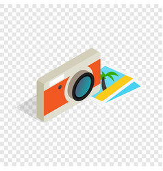 camera and photos isometric icon vector image