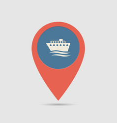 map pin ship port vector image vector image
