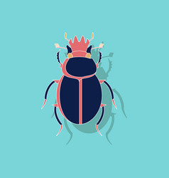 Paper sticker on background of scarab vector