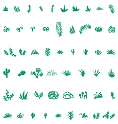 Pattern of different kinds of plants vector image