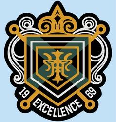 scroll emblem badge vector image vector image