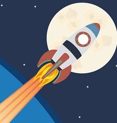 Spaceship design vector image