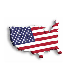 3d map of usa aka united states of america in a vector image vector image