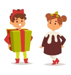 carnival costume kid vector image vector image
