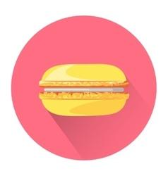 Cartoon macaroon icon vector image