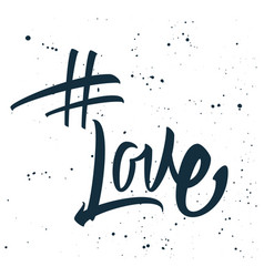 hashtag love print for t-shirt vector image vector image