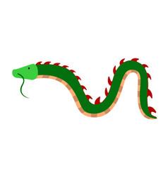 isolate cute dragon vector image