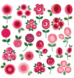 mod rose clipart vector image vector image