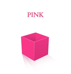 Pink Box isolated on white background vector image vector image