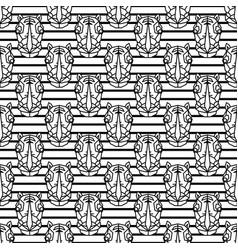 Rhinoceros geometric line style seamless vector