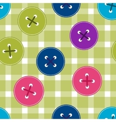 Seamless background with clothing buttons on vector