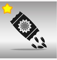 seed black icon button logo symbol concept vector image