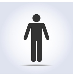 Standing human icon vector image