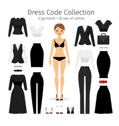 Women dress code set vector image vector image