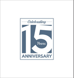 15 years anniversary modern design background vector image
